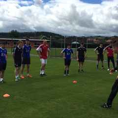 First Pre Season Session down at Ruthin Memorial Playing Fields..