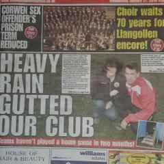 Corwen FC Are Front Page News