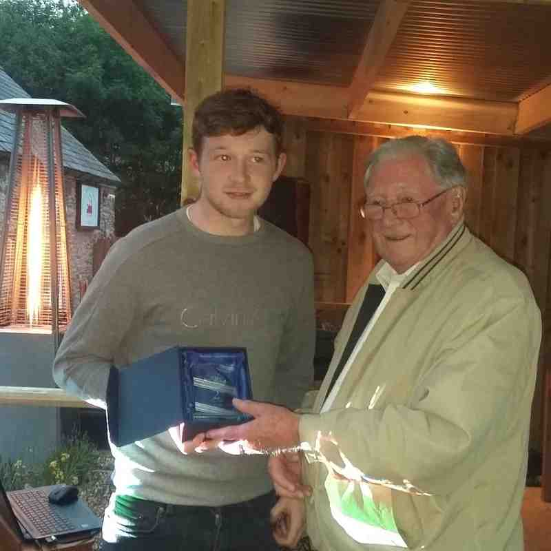 First Team Players Player of the season , second - Alex Webster