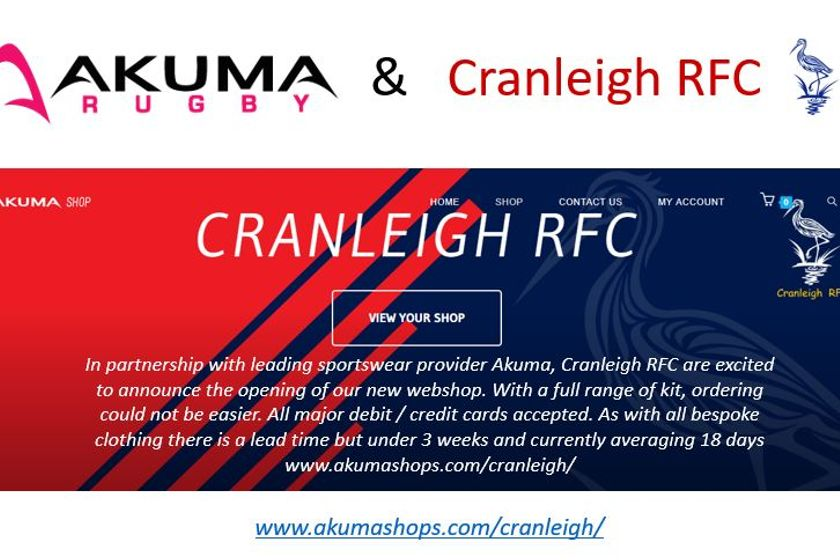 Akuma and Cranleigh RFC announce playing  kit partnership