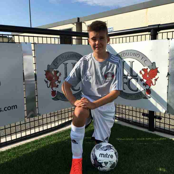 Llandudno Offer Best Wishes To Academy Player James Quick