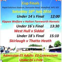 National Cup Final - Sat 16th July 1.30pm