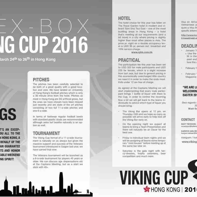 Viking Cup 2016 Invitation