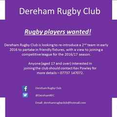 Dereham 2nd Team Recruitment!!