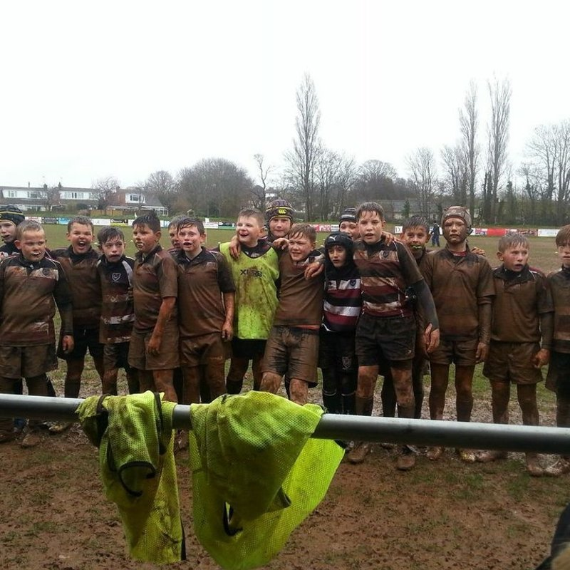 Under 14's (Yr 9) beat Tiverton RFC 17 - 55