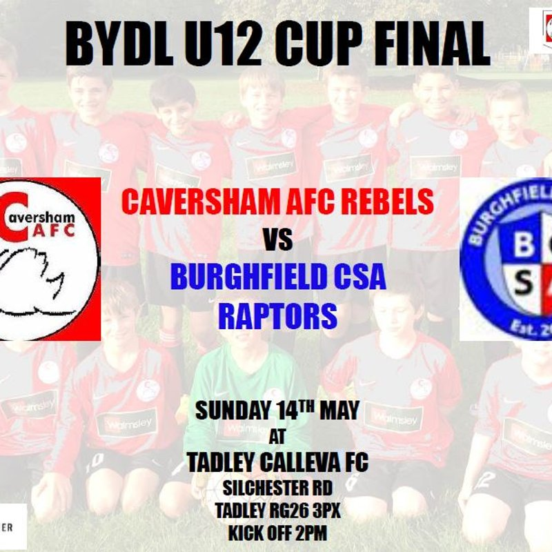 The U12 Rebels go for League/Cup Double
