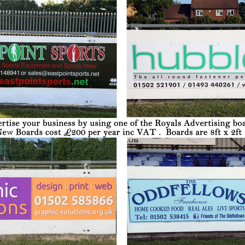 Advertising just got cheaper, board renewal £100.00