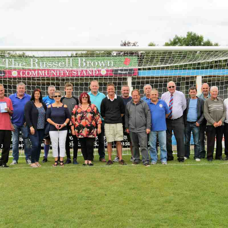 Russell Brown Stand naming ceremony