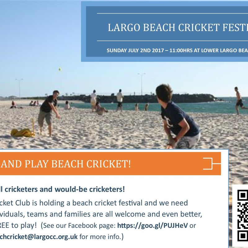 Beach Cricket Festival