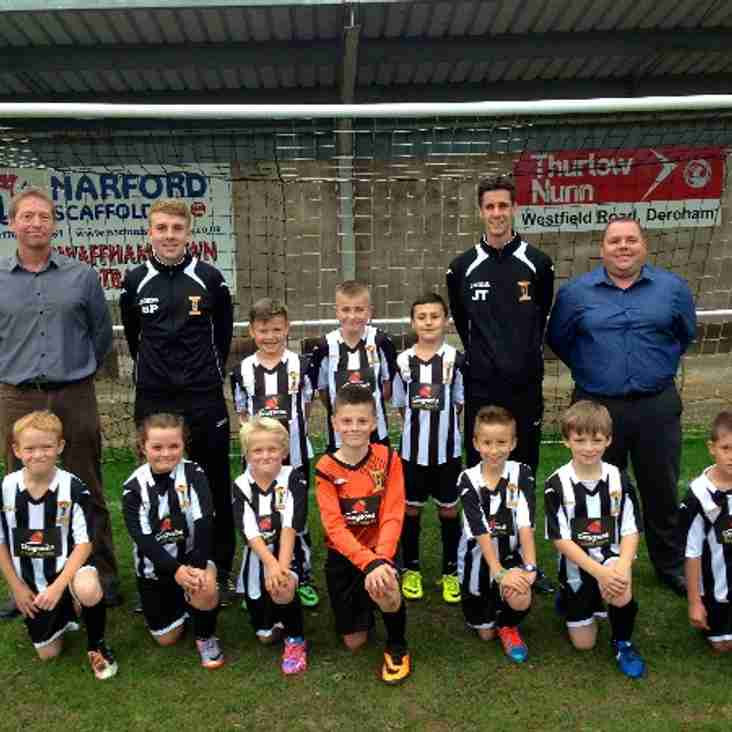 Swaffham Town U10's new kit