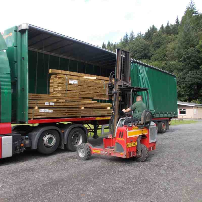 Timber delivery- donated by BSW Timber Group