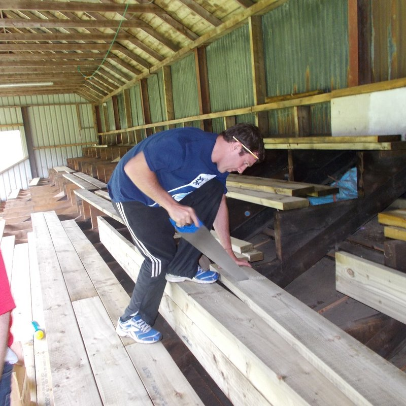 2016 Rugby Force stand floor rebuild