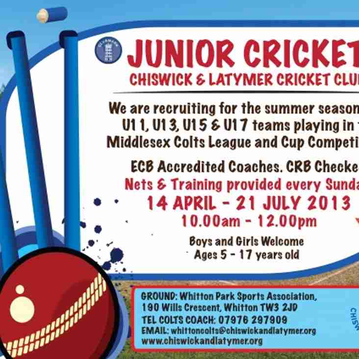 New Junior Players Welcome