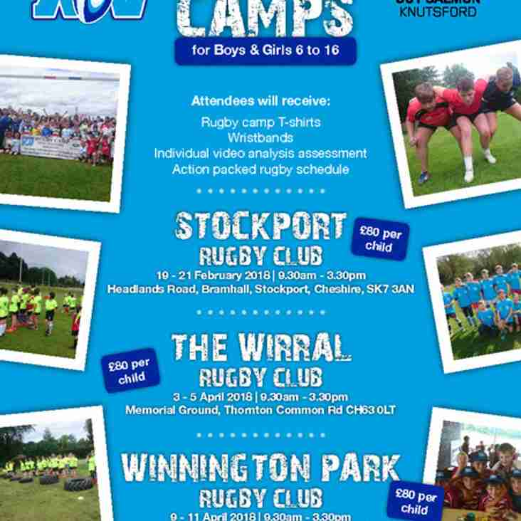 EASTER HOLIDAYS RUGBY CAMP AT WINNINGTON PARK RUGBY CLUB