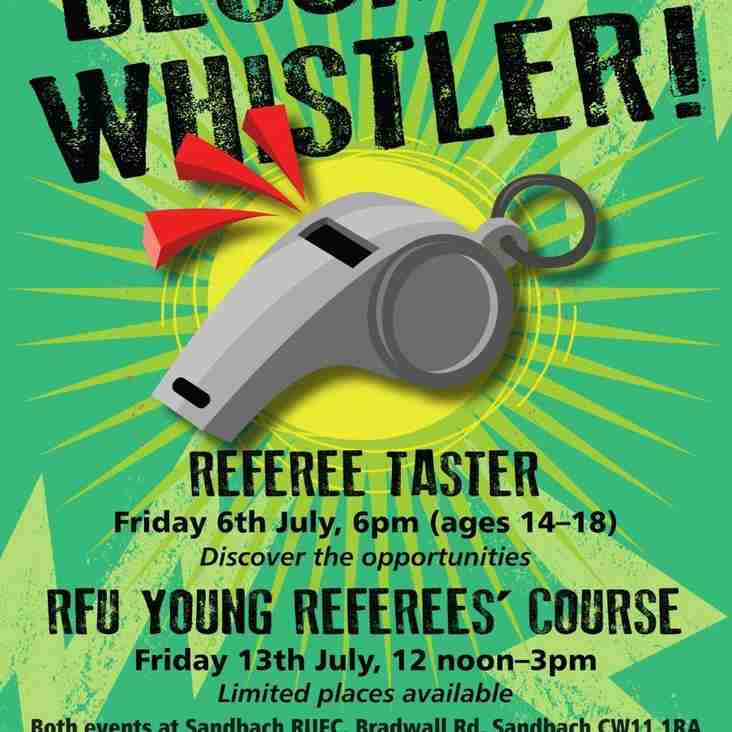 Calling young Referees'