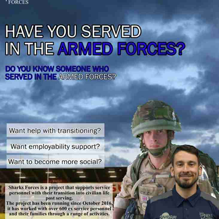 Sharks forces is the Sharks community trust veterans programme