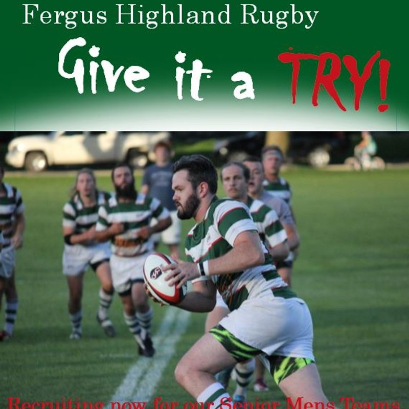 Highland Rugby - Recruiting for Senior Mens Teams.