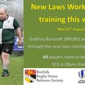 New Laws Workshop - At training this week!
