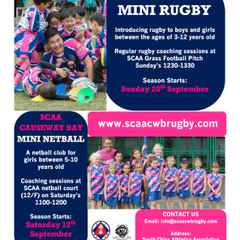 MINI RUGBY & MINI NETBALL DATES ANNOUNCED
