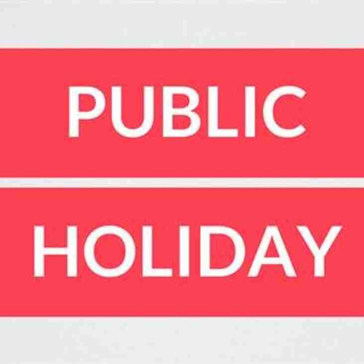 Information about Public holiday training