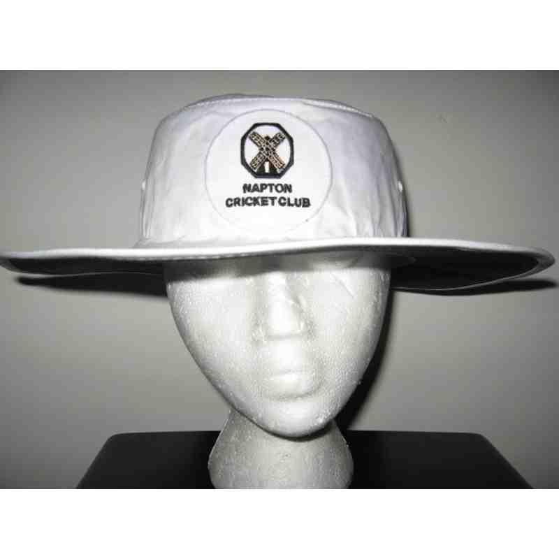 White cricket hat