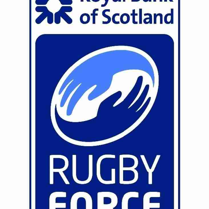 All Hands on Deck! RBS RugbyForce next weekend 13/14 Aug