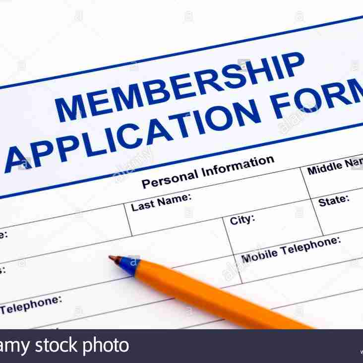 2018/19 Membership Application form: ALL Members & Players