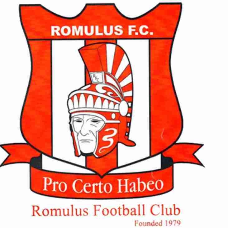 Romulus FC Academy Trial Details