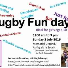 Rugby Fun Day, Just For Girls! - 3 July 2016