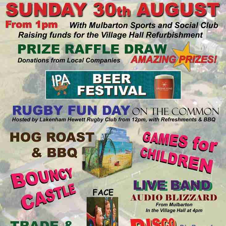 Mulbarton Common Fun day & Rugby 4 All