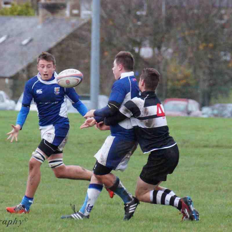 Ryton U16's V Percy Park. Nov 15th 2015.