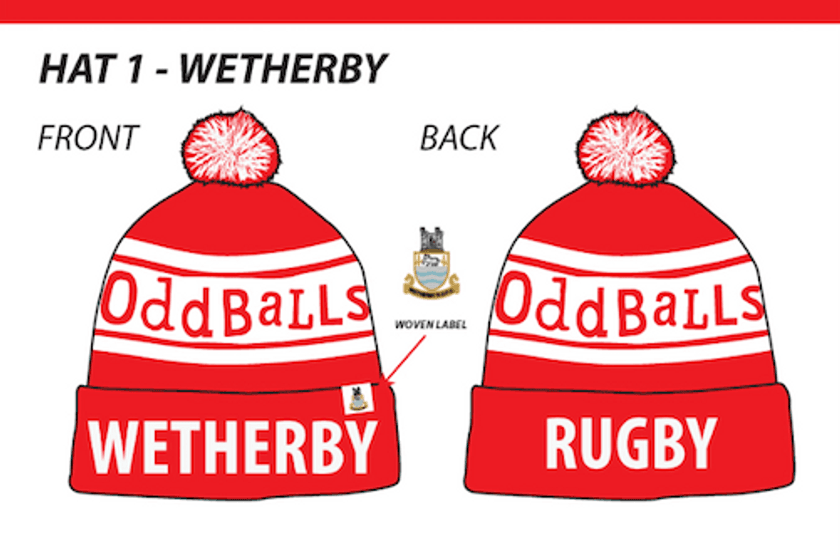 Wetherby RUFC Oddballs Bobble Hats now available to preorder