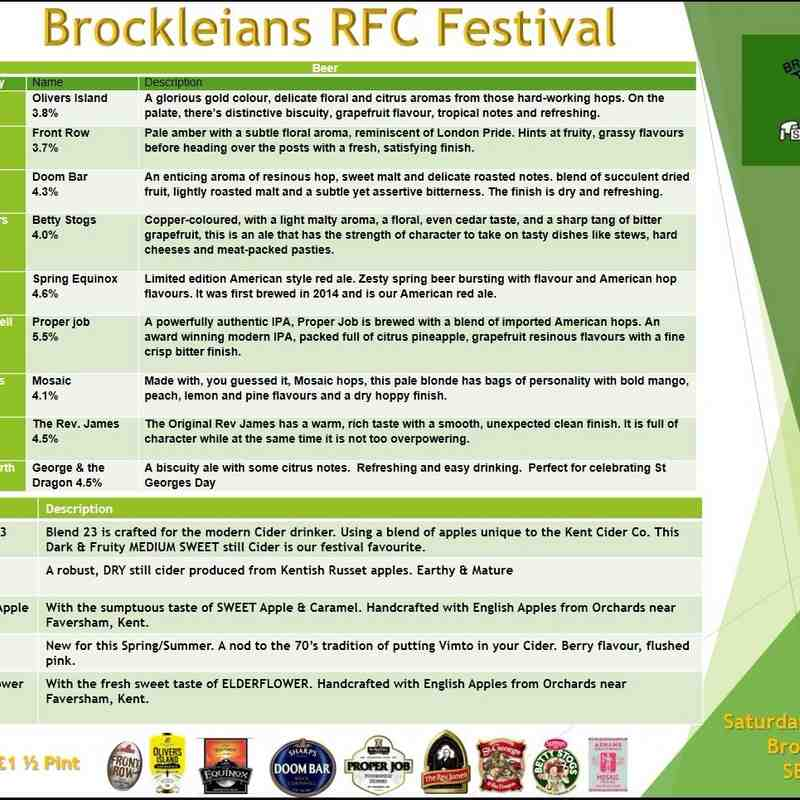 Brocks Easter beer Festival