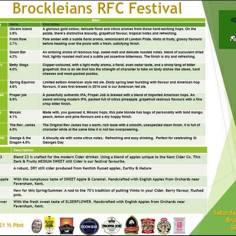 Brocks Easter beer Festival