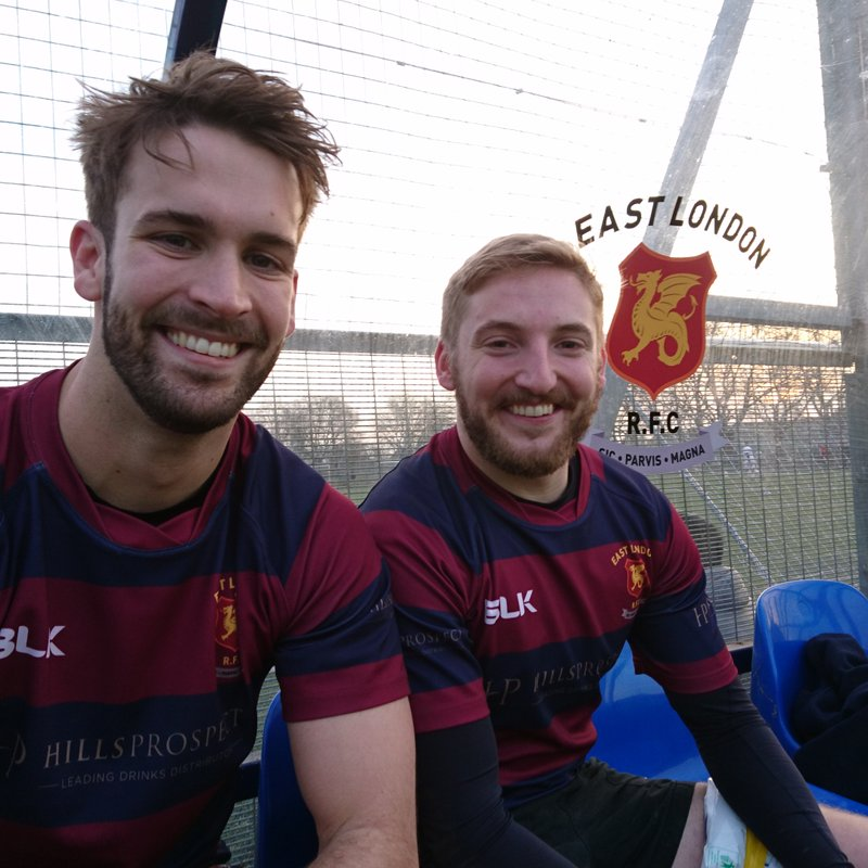 ELRFC vs Upminster 26 Nov 2016 - try scorers Oliver Hillyer-Riley and Daryl O'Brien