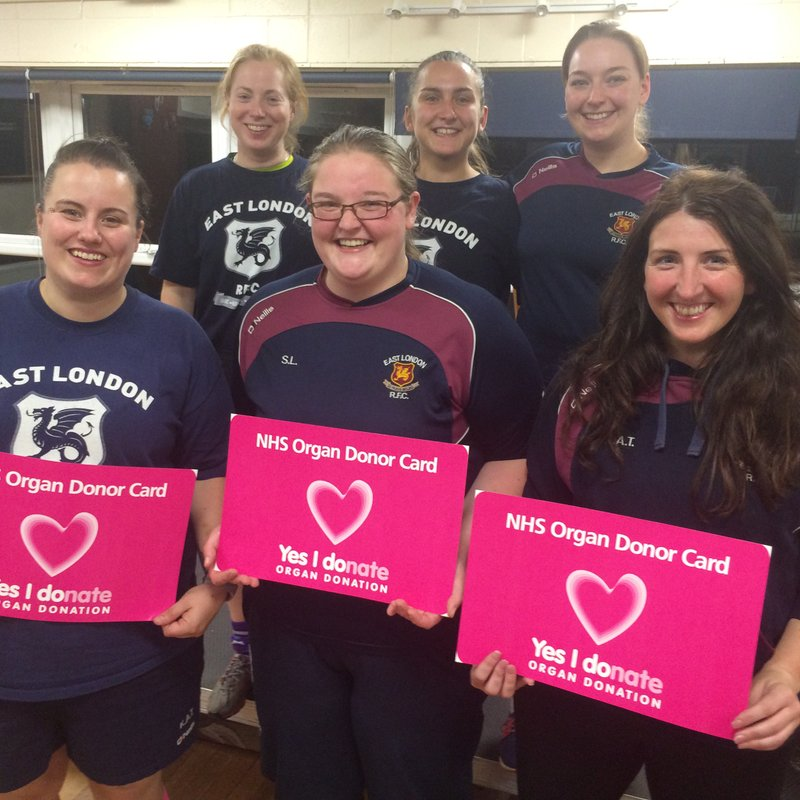 EAST LONDON VIXENS SUPPORT CAMPAIGN TO SAVE LIVES