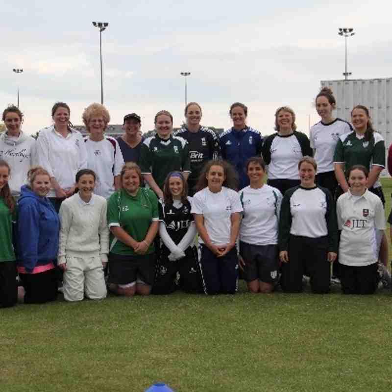 Lydia Greenway and Beth Morgan at Ashford Cricket Club