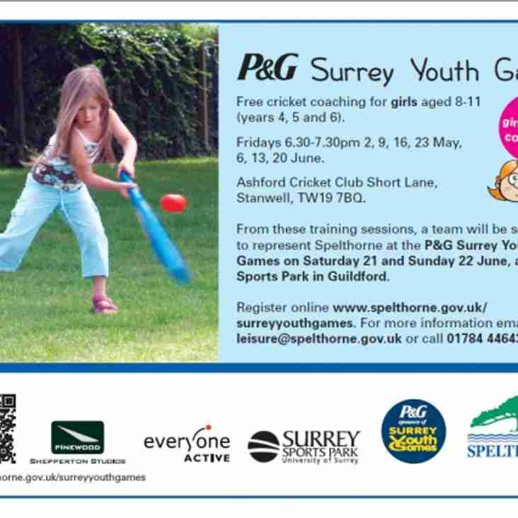 P&G Surrey Youth Games - Girls Cricket