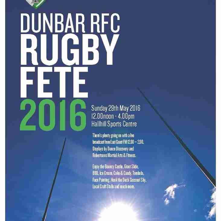 Dunbar RFC Annual Fete 2016