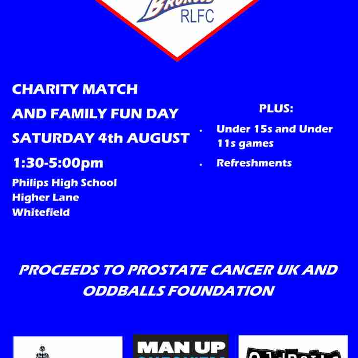 Charity Match and Family Fun Day!