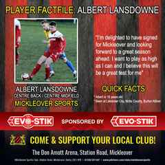 Player News: Albert Lansdowne Signs For Mickleover Sports