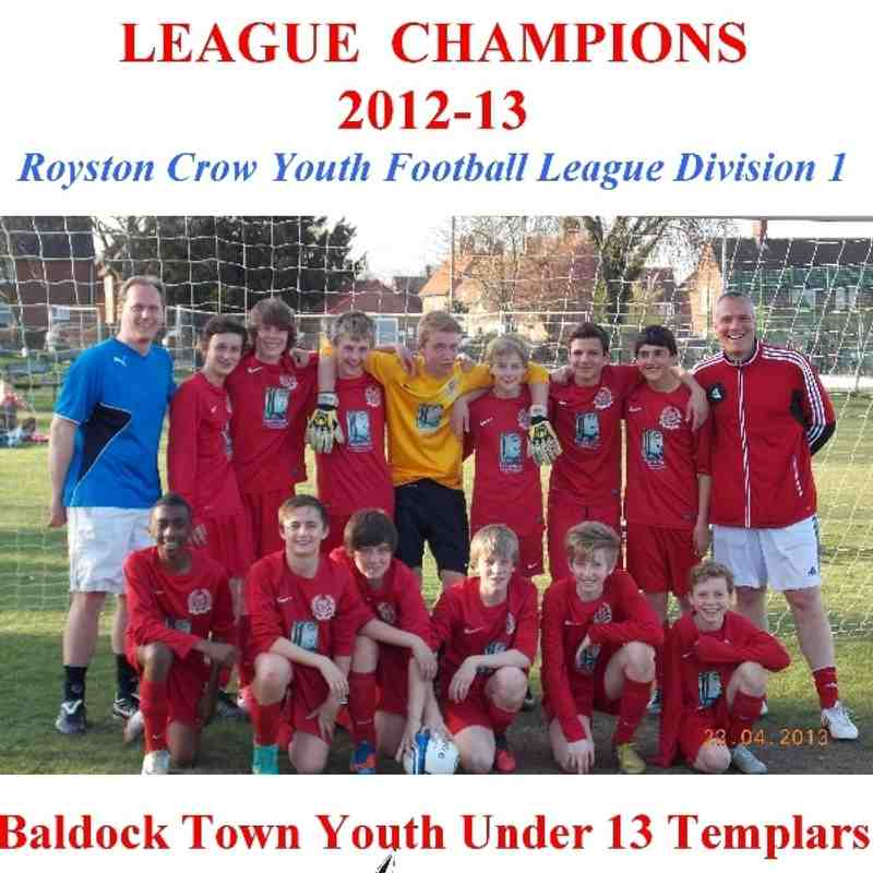 U13 Templars - 2012-13 Div 1 League Champions