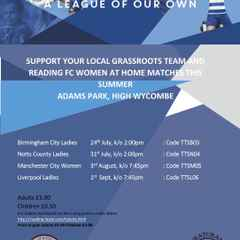 TICKETS: Reading FC Women Summer Holiday Matches