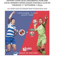 Tornadoes SISTER CLUB DAY at Reading FC Women vs Liverpool Ladies