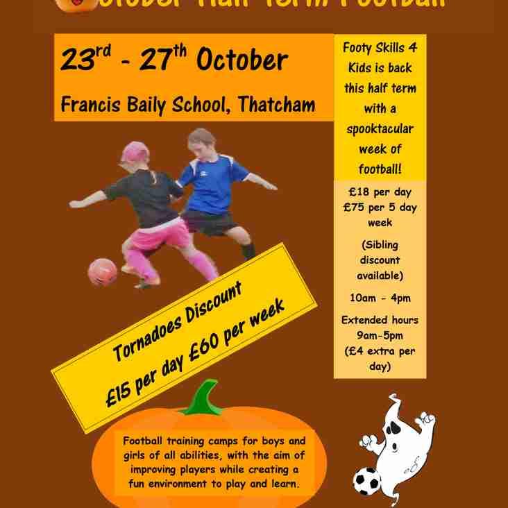 Footy Skills 4 Kids - October Half Term Football Camp