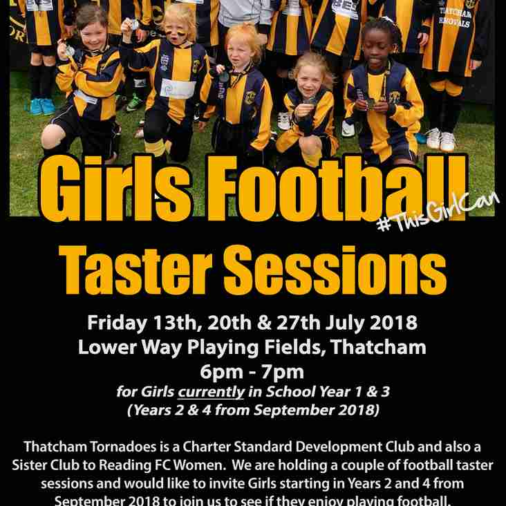 Thatcham Tornadoes Girls Football Taster Sessions - FREE