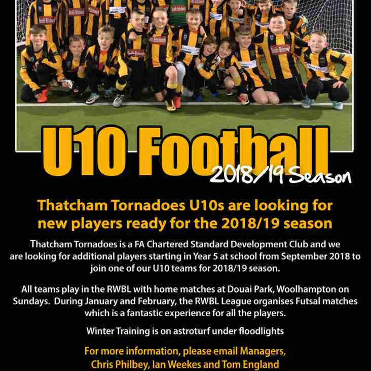 Players Wanted - Thatcham Tornadoes U10s