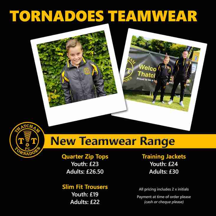 Teamwear Order Deadline - Sunday 9th September