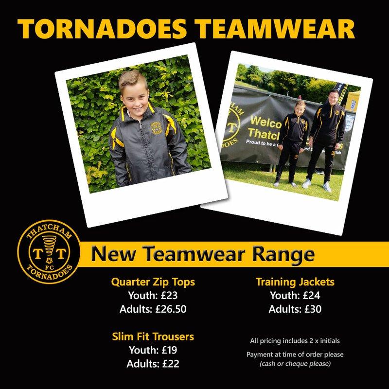 Teamwear Order Deadline - Sunday 9th September