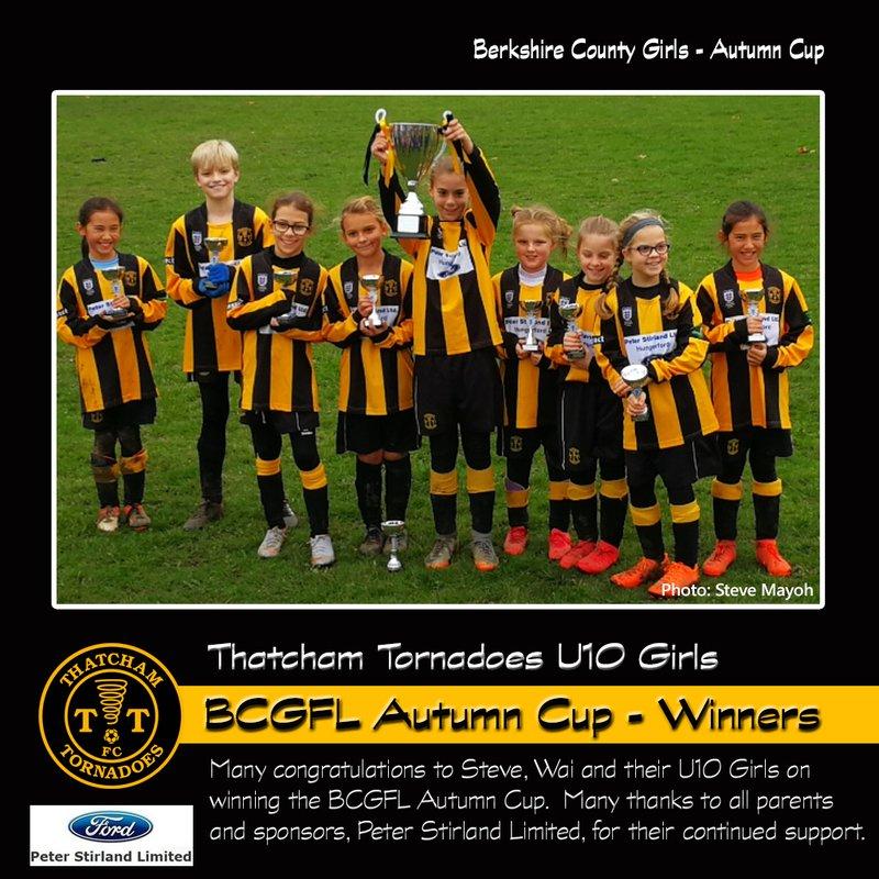 Tornadoes U10 Girls Win BCGFL Autumn Cup